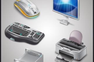 Iconos de partes de computadoras gratis