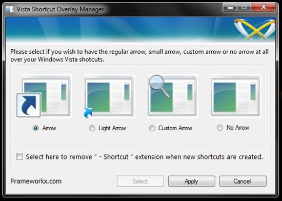 vista shortcut
