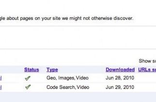 Google ahora permite más de un tipo de contenido por Sitemap