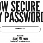 Crear contraseñas seguras en How Secure is my Password