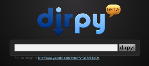 Dirpy, descarga audio de videos de Youtube