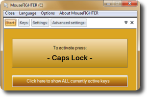 Mover el cursor con el teclado, MouseFIGHTER