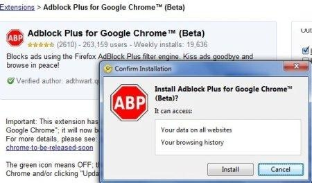 Ya está disponible Adblock Plus para Google Chrome