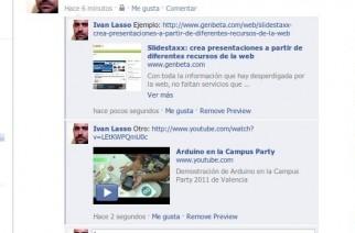 Facebook añade vista previa a enlaces en comentarios