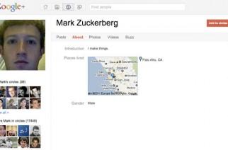 Mark Zuckerberg está en Google+… y es de los más populares