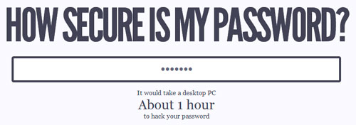 Descubre qué tan segura es tu contraseña con How Secure Is My Password