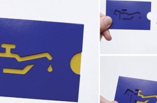 Recopilación con tarjetas de presentación creativas