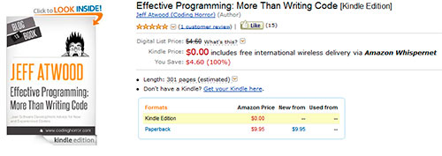 El libro Effective Programming es gratis en Amazon