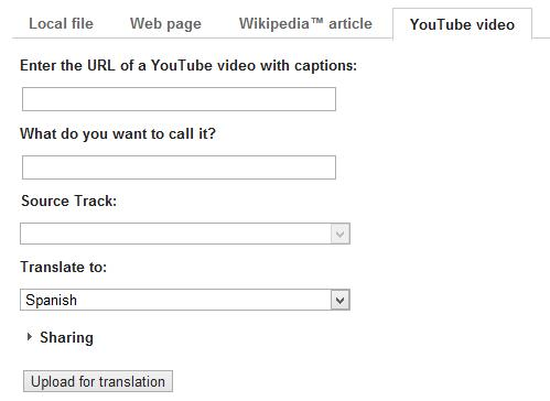 Google Translator Toolkit incluye soporte para Youtube