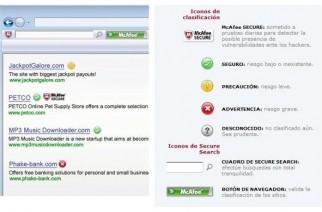 McAfee Site Advisor protección contra sitios inseguro