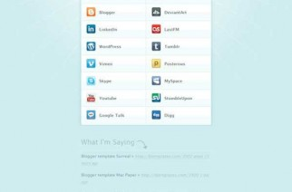 MiniCard – Plantilla para blogger estilo tarjeta de visita