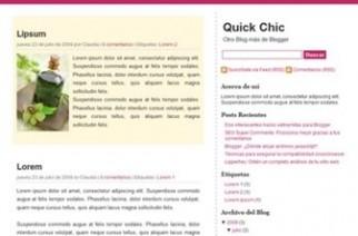 Quick chic – plantilla para blogger minimalista
