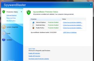 SpywareBlaster – Un atispyware único