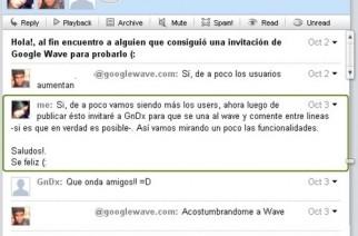 Conversaciones en Google Wave