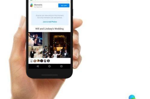 """Facebook actualiza """"Moments"""" para competir con Google Fotos"""