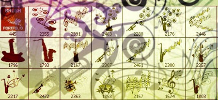 brushes musicales