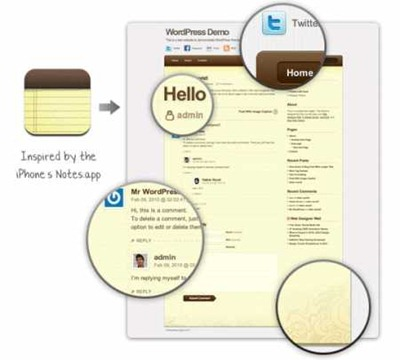 notepad-blogger-template