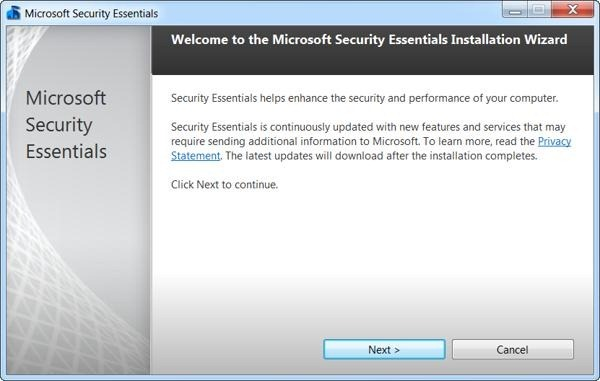 microsoft security essentials beta instalador