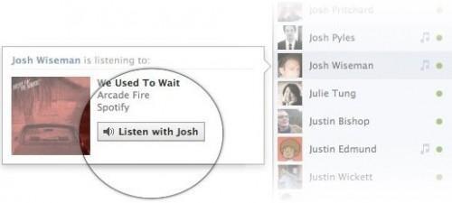 escuchar musica en facebook con amigos