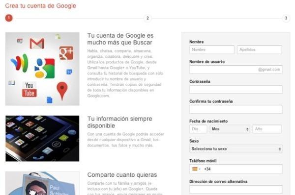 google  gmail registro