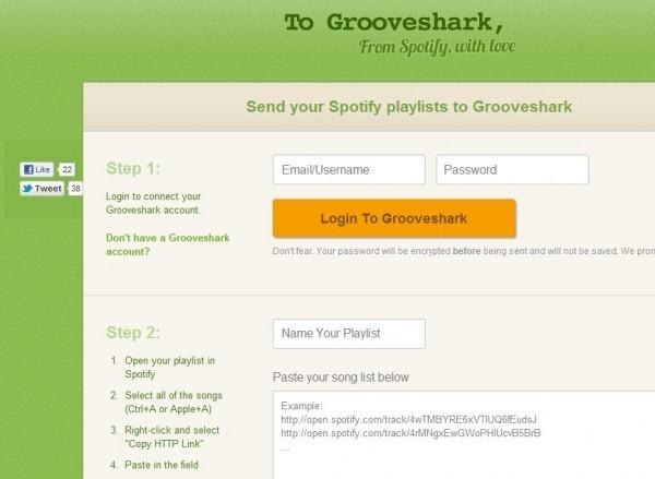 spotify to grooveshark