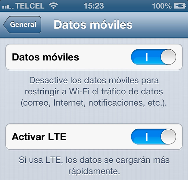 Telcel LTE iPhone 5