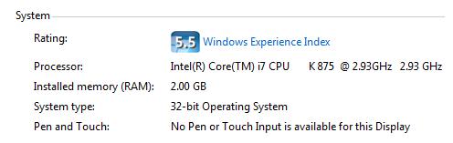 RAM 32 bits