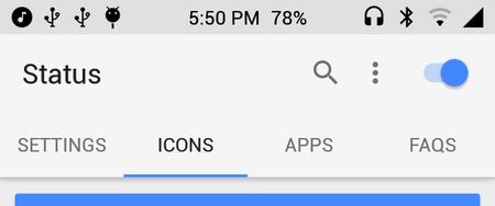 Android O - barra